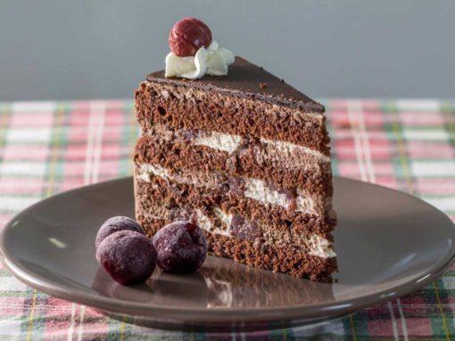 laktózmentes fekete erdő torta