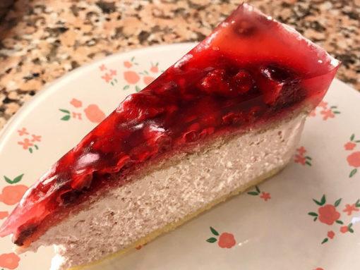 tejmentes málna krém torta