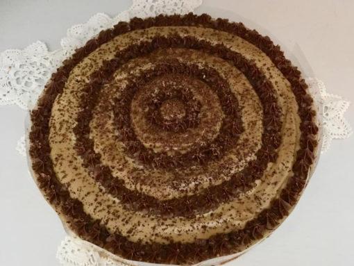 vegán almás karamellás csoki torta