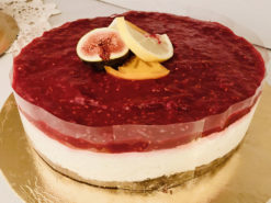 vegán citromos málna torta