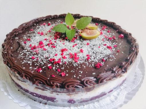 vegán meggyes bounty egész torta