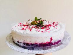 vegán meggyes gesztenyés torta